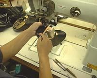 表革と裏革の縫い合わせ